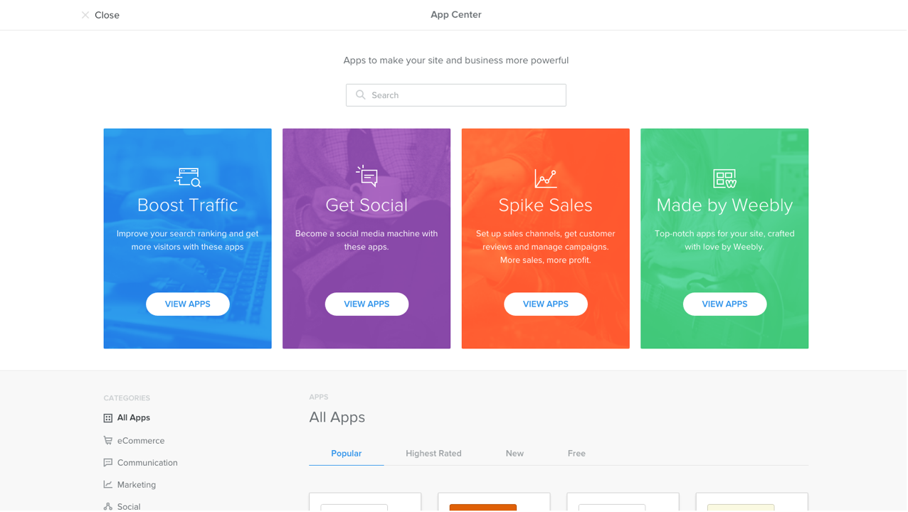 Weebly App Center - Bring the World to Your Website