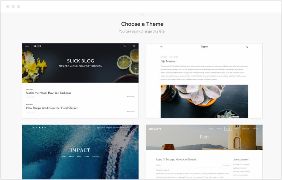 Start a Blog with Weebly