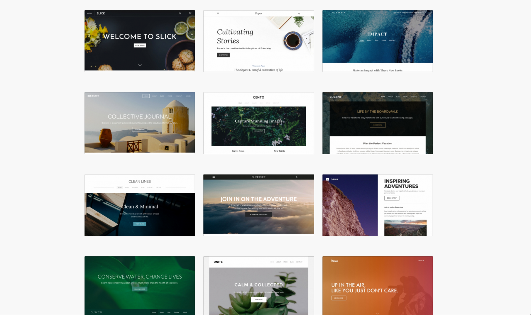 Free Website Templates - Build a Beautiful Site, Blog or Store