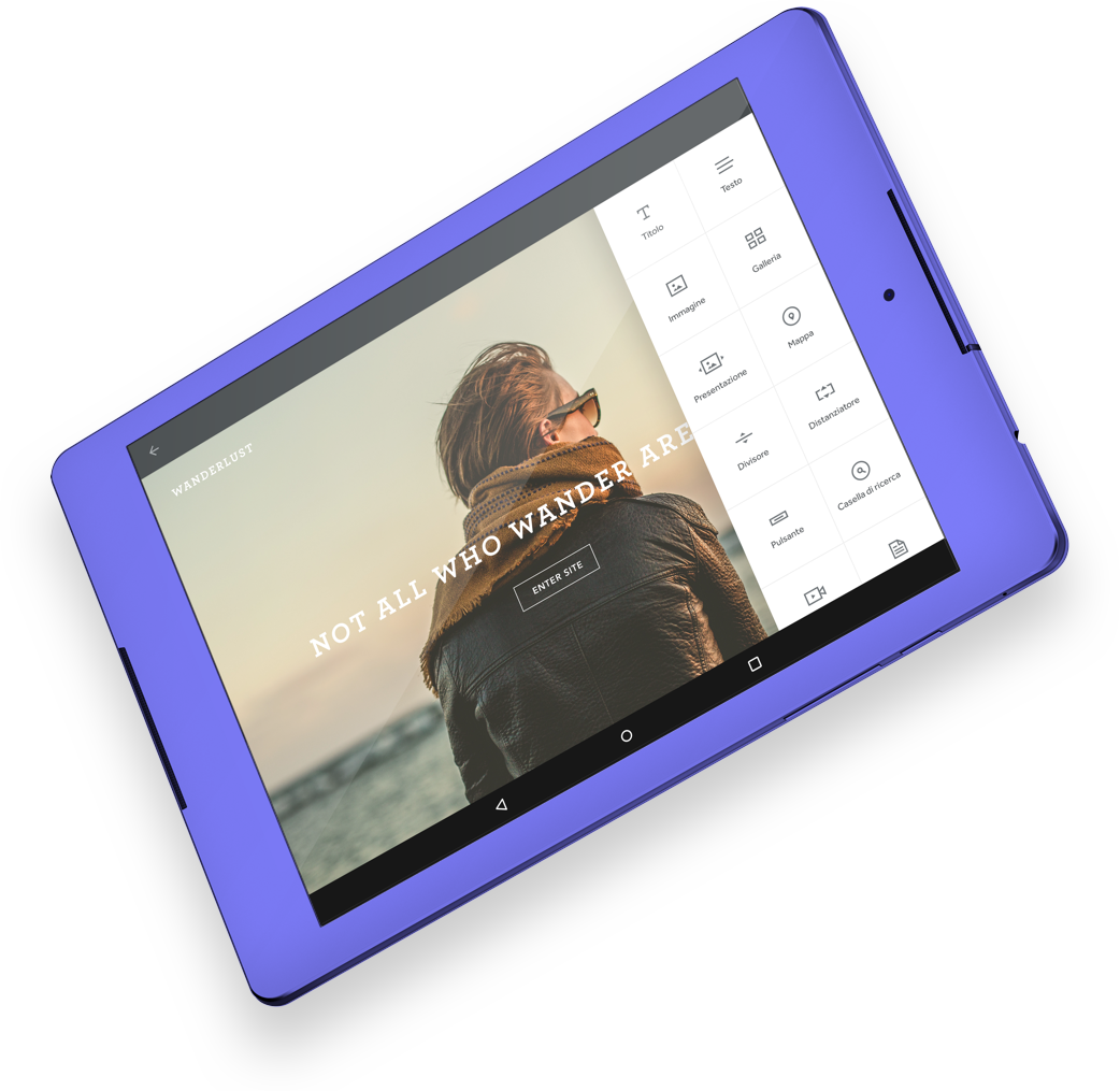 Costruttore di siti gratuito crea un sito gratis o un for Sito mobili online